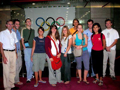 Le groupe a pu avoir des explications sur les projets liés à l'organisation des jeux Olympic et les réalisations urbanistiques conçues dans cette perspective.